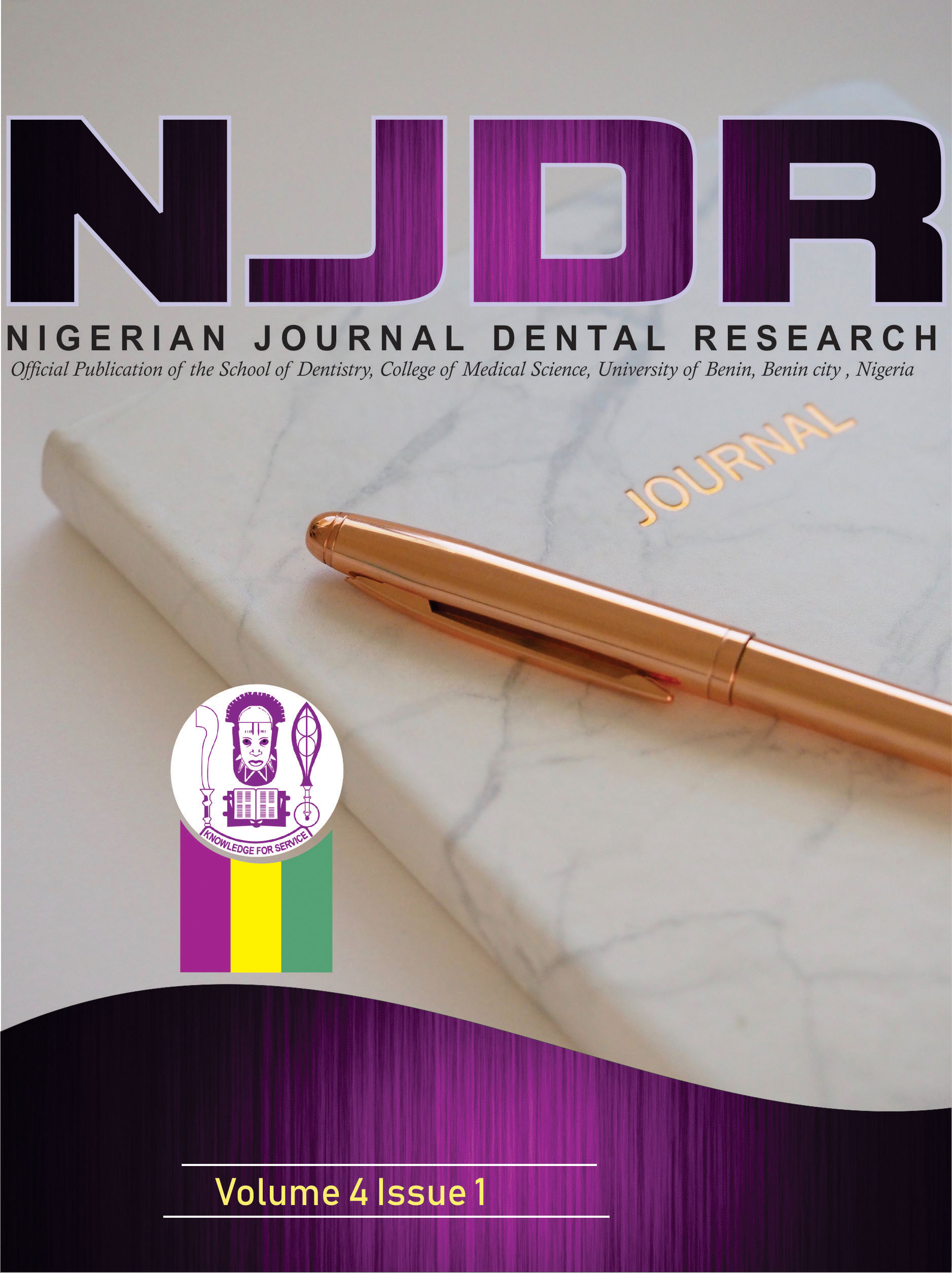 View Vol. 4 No. 1 (2019): Nigerian Journal of Dental Research