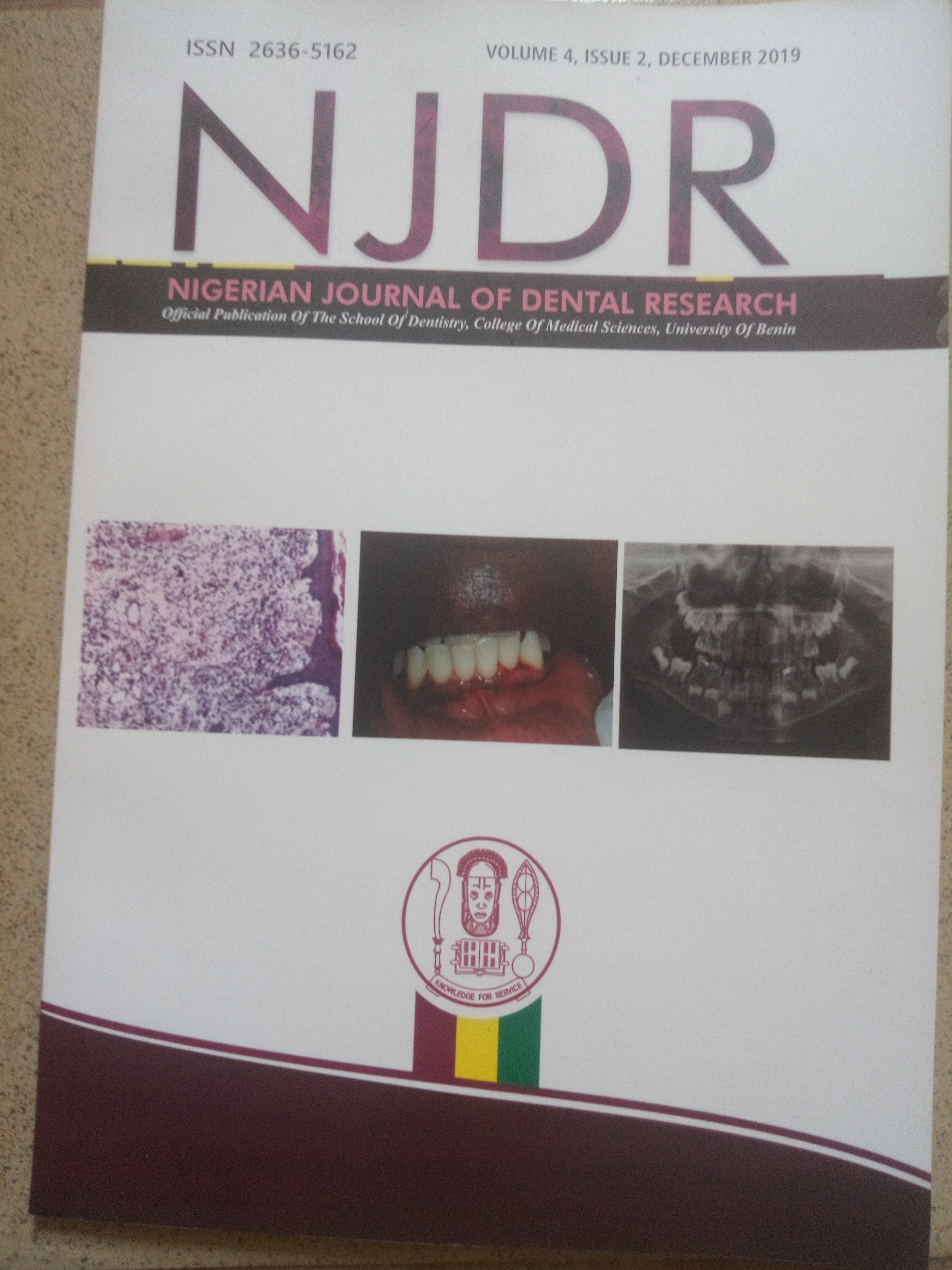 View Vol. 4 No. 2 (2019): Nigerian Journal of Dental Research